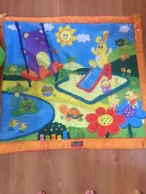 Fisher Price Bounce and Spin zebra and playmat