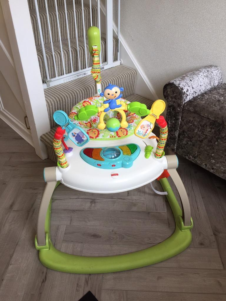 a91dd182e5cf Fisher Price Woodlands Space Saver Jumperoo
