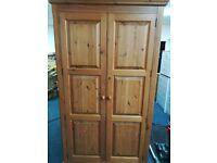 Large Pine 2 Door Wardrobe