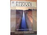 University Mathematics textbook: Howard Anton, Chris Rorres - Elementary Linear Algebra 10th Ed.
