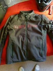 Bering jacket with hoodie size large