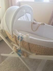 John Lewis baby Moses basket and stand