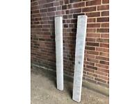 2 x prestressed reinforced concrete lintels - grey