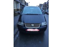 Volkswagen sharan automatic 1.9td black good condition