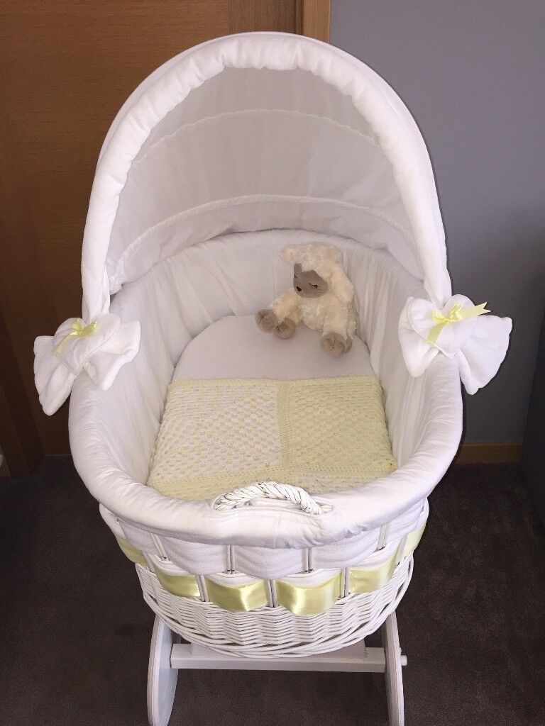My sweet baby Moses basket/crib large. Perfect condition, only a few marks on the handle: