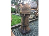 Victorian chimney pot 36 inches tall. Original and in excellent condition