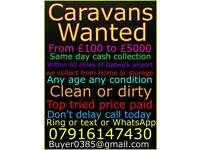 Caravans wanted