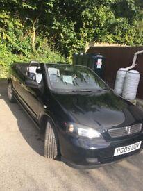 Convertible Vauxhall Astra 2005 86K miles, no faults. MOT till 23/04/2019