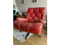 Tetrad Nucleus armchairs x 3 and footstool