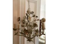 John Lewis floral design chandelier light fitting