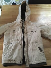 Boys timberland beige coat ages 4 to 6