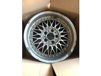 Genuine BBS RC090 17x8j et20 BMW style 5 split rim deep dish alloy wheels 5x120
