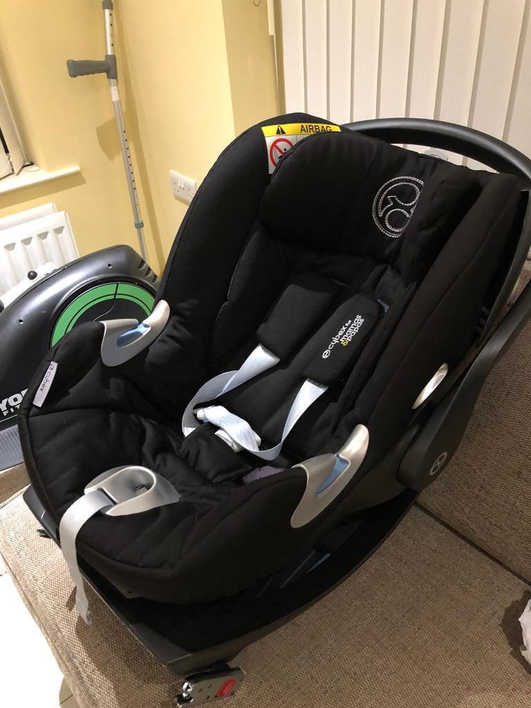 Baby car seat CYBEX Cloud Q Lie Flat Baby Car Seat and Carry Cot - Stardust Black