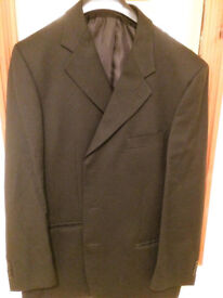 Mens M&S black 2 piece suit. Italian made.