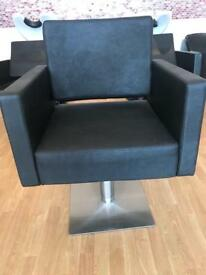 Black Salon styling chair