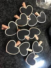 11 heart pegs perfect for a wedding, party etc