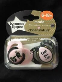 Tommee tippee soothers 6-18m