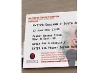 Cricket tickets 20/20