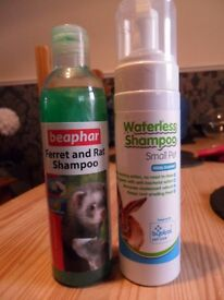 Ferret and Rat Shampoo and small pet Water-less Shampoo. Both unused.