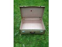 Vintage Hard Suitcase With Keys Large Size