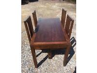 Dining table with chairs. Free delivery