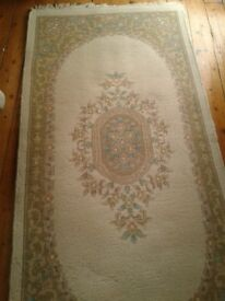 Small floral cream rug