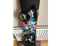 Ladies Atomic Snowboard with bindings and Salomon Boots (size 6)