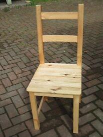 Ikea 'Ivar' Pine Chairs x 3