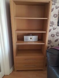 Large bookcase with drawers excellent condition