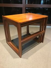 Vintage Retro 60/70's G Plan Quadrille Teak Nest of 3 Tables Danish Style - Very good condition