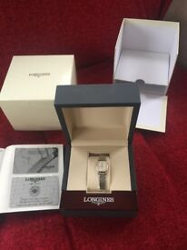 Longine Diamond and Mother of Pearl ladies watch