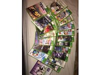 18 Xbox 360 games, 1 Kinect game, 1 uDraw pad