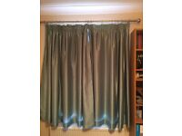Pair of lightweight fully lined Teal curtains