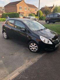 Vauxhall Corsa 2010, 1.3CDTI 75k, FSH, £30 tax black,very cheap to run MOT 3/19