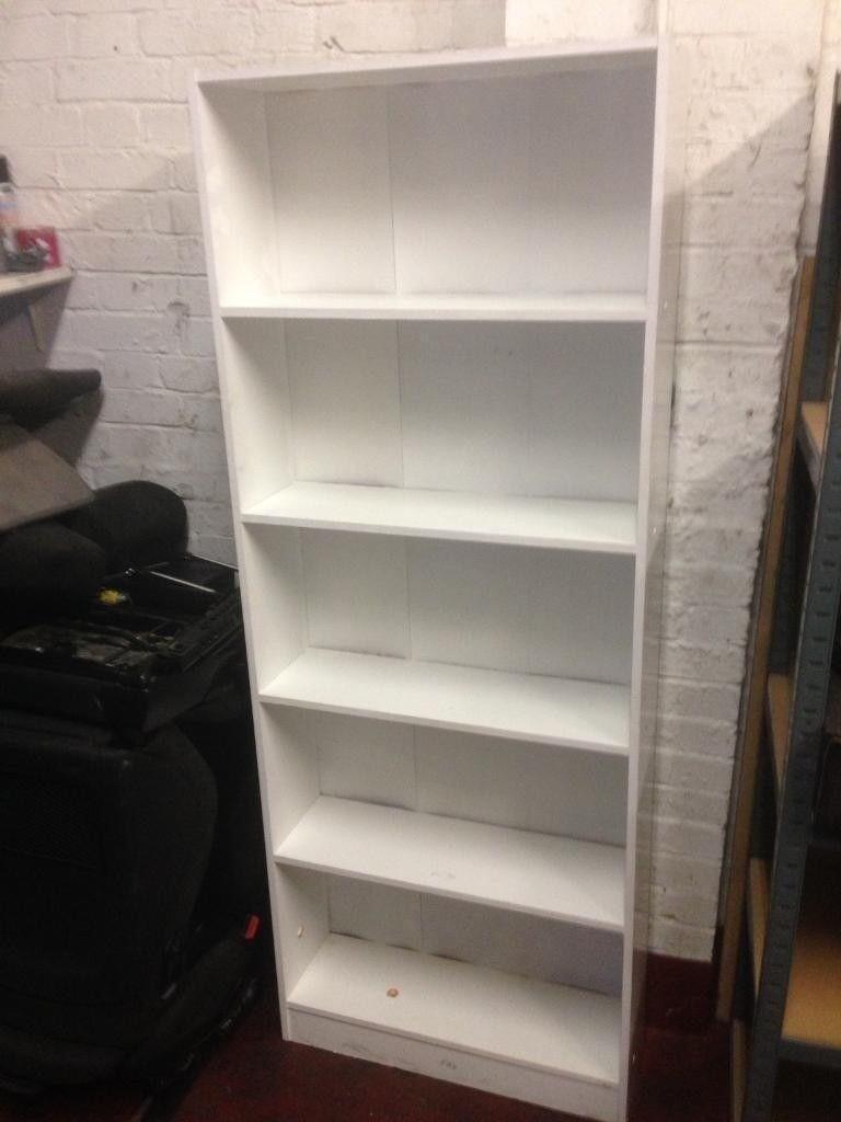 Simple White Bookshelf
