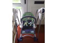 Baby musical swing seat