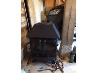 Black Cast Iron Log Burner