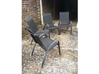 Patio chairs x 4