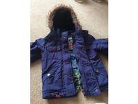 Boys coat, blue, aged 2-3 years