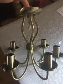 Brass light fitting