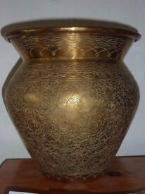 Large Antique Syrian Brass Pot