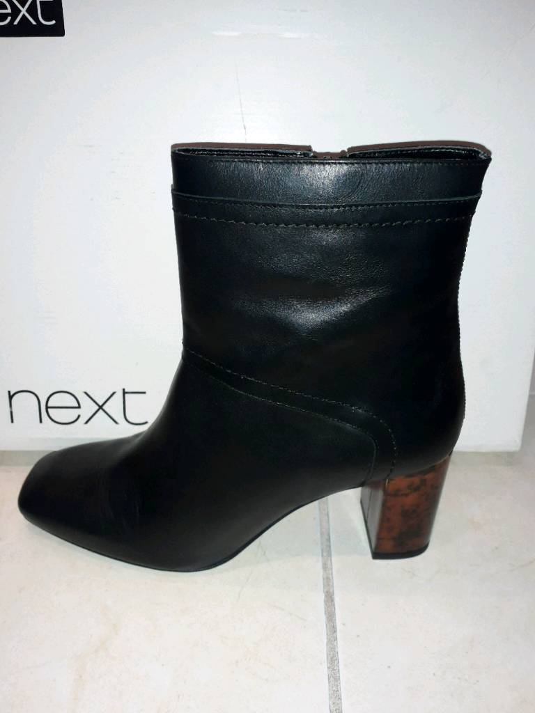 Brand New NEXT Leather Boots Size 6 REDUCED TO £15