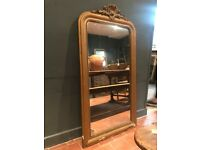Antique French Gold Louis Phillippe Mirror