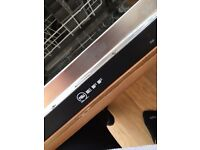 Neff integrated dishwasher, excellent condition, hardly used, collection from Nether Edge Sheffield