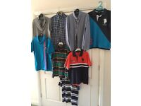 Selection of boys Ralph Lauren, Tommy Hilfiger and US Polo Assn. shirts and polo shirts