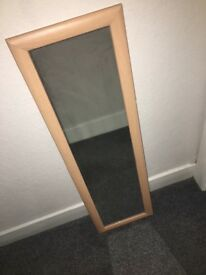 Long bedroom mirror £10 birch coloured