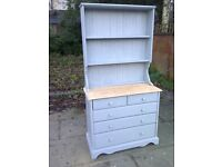 welsh style dresser shabby chic vintage solid pine with drawers display cabinet sideboard