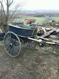 Vintage Governess Pony Cart