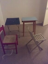 Chairs and tables