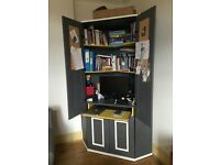 Painted Ikea Alve Corner Desk Cupboard Workstation comes with paint cans £90 ono